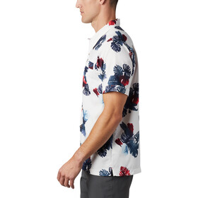 Columbia Outdoor Elmnts Print T shirt Homme, white tropical print